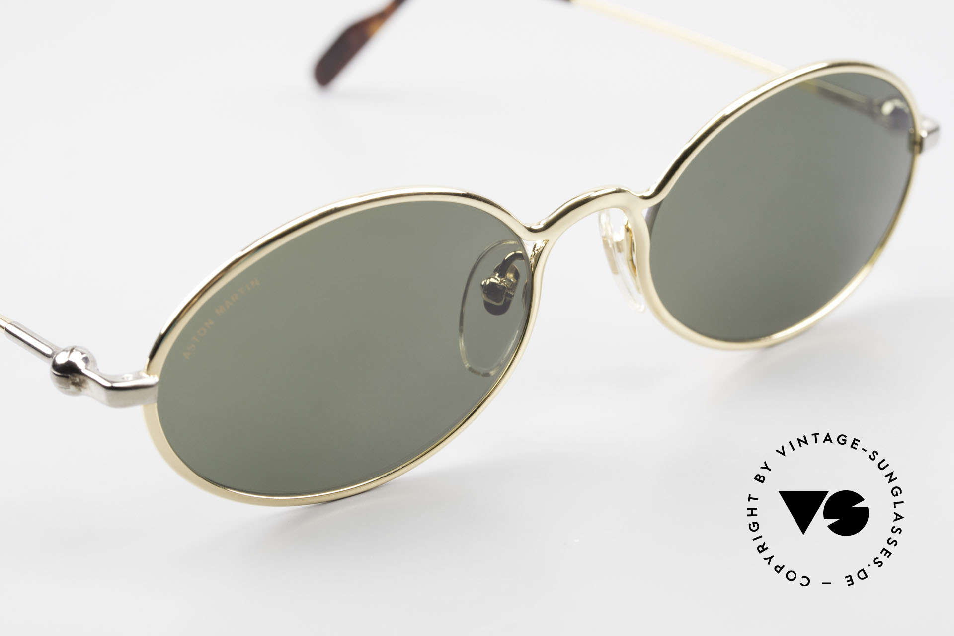 Aston Martin AM13 Oval Sunglasses James Bond, non-reflection mineral lenses with Aston Martin lettering, Made for Men