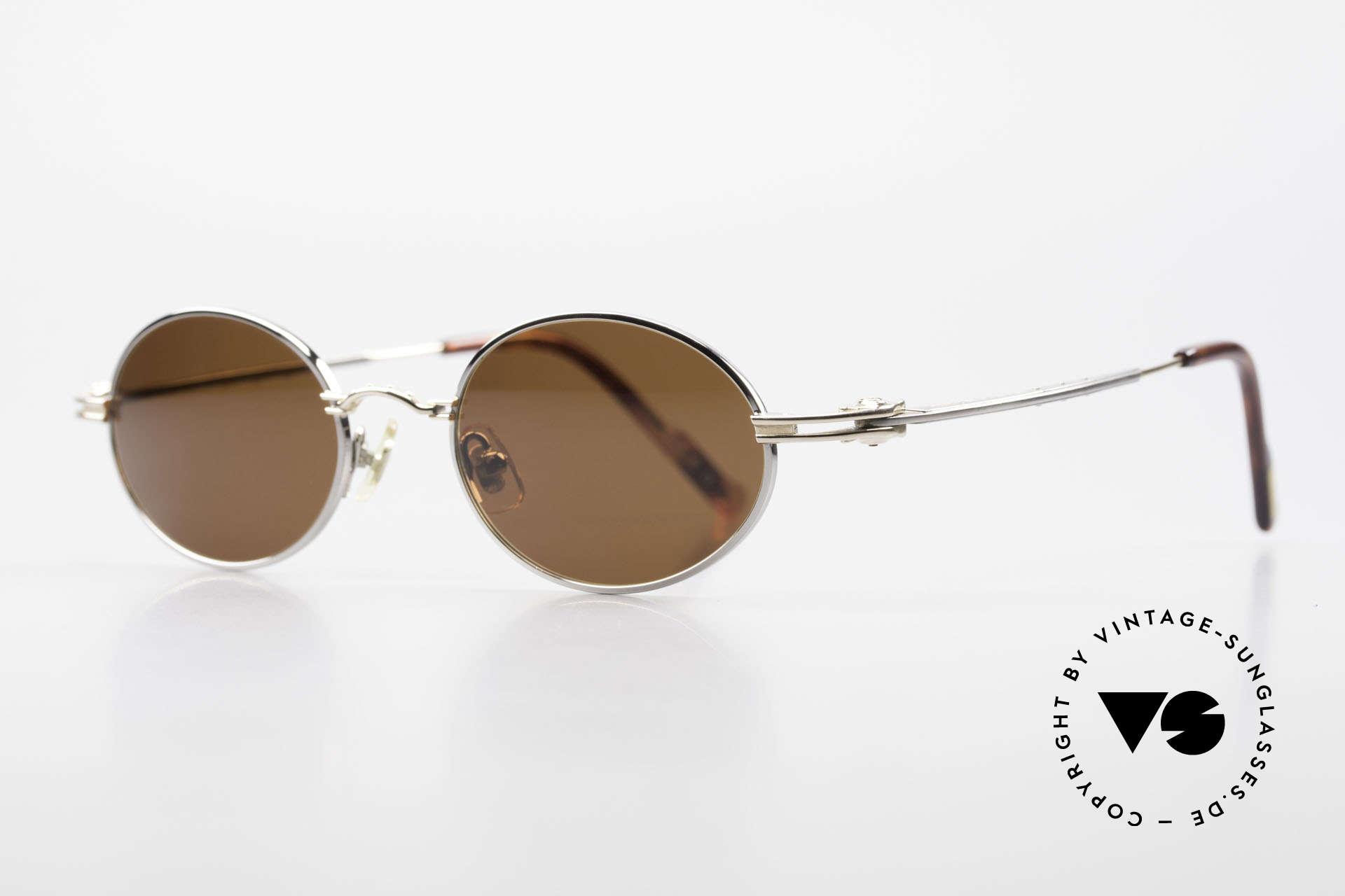 Aston Martin AM43 Ergonomic Oval Sunglasses, sporty and elegant classic: James Bond 'gentlemen style', Made for Men