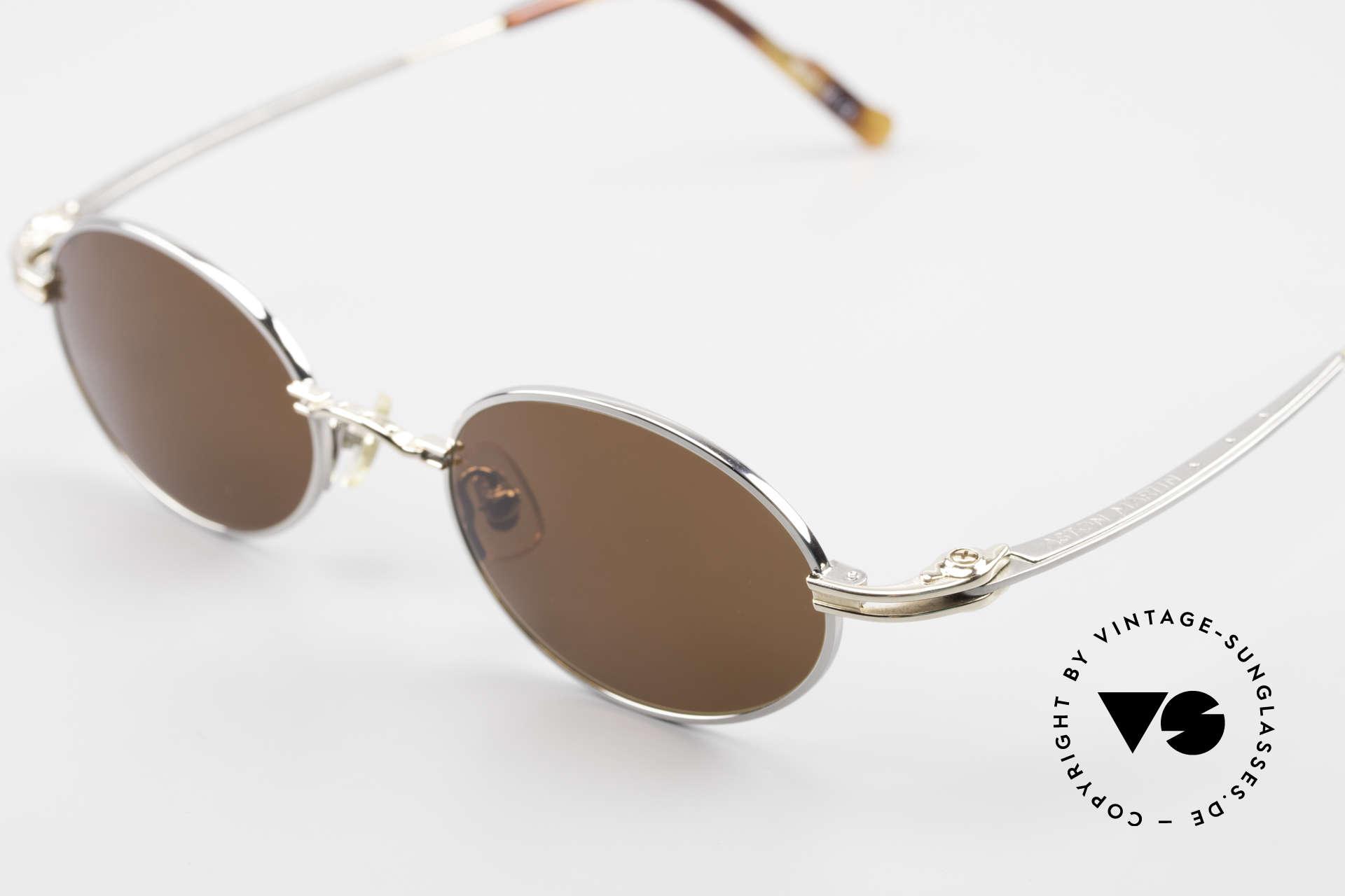 Aston Martin AM43 Ergonomic Oval Sunglasses, precious rarity (ergonomic titan frame) + orig. AM case, Made for Men