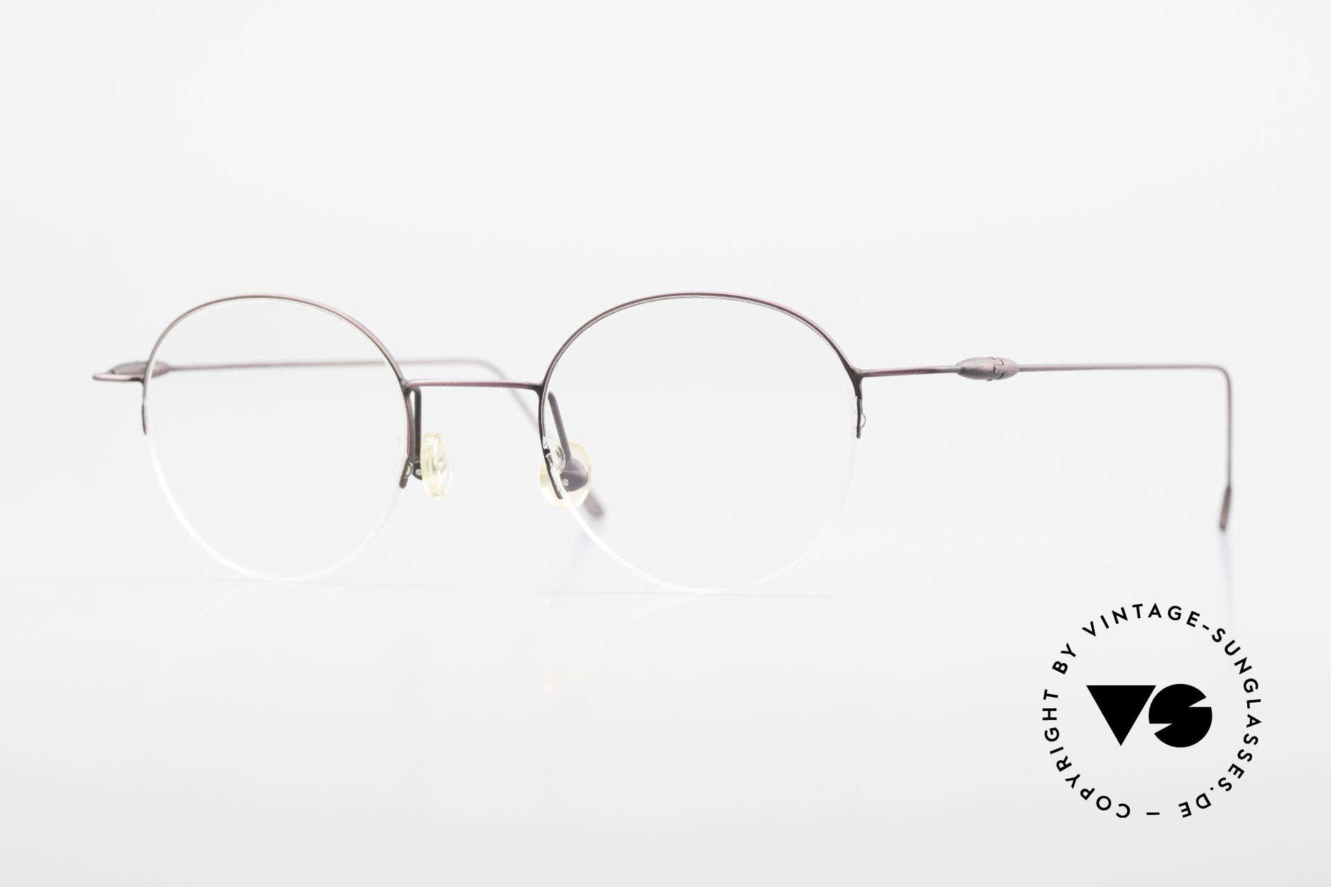 W Proksch's M61/12 Minimalist Semi Rimless Frame, Proksch's vintage Titanium eyeglasses from 1996, Made for Men and Women