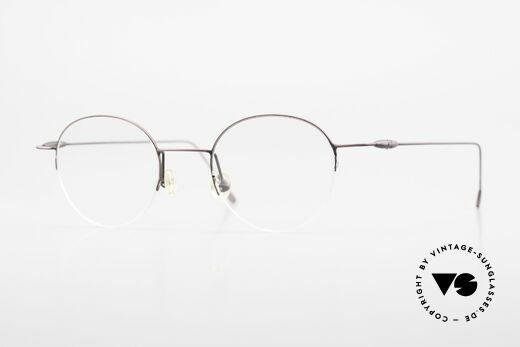 W Proksch's M61/12 Minimalist Semi Rimless Frame Details