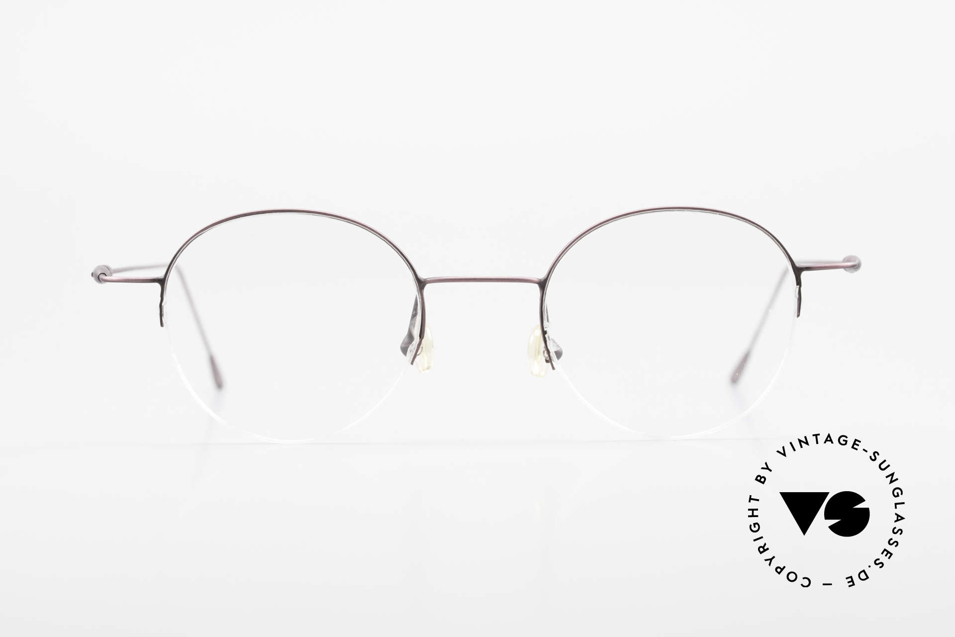 W Proksch's M61/12 Minimalist Semi Rimless Frame, back then, produced by Wolfgang Proksch himself, Made for Men and Women