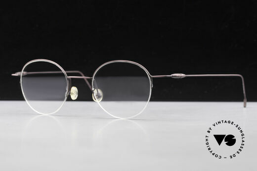 W Proksch's M61/12 Minimalist Semi Rimless Frame, NO RETRO SPECS; but an app. 25 years old rarity, Made for Men and Women