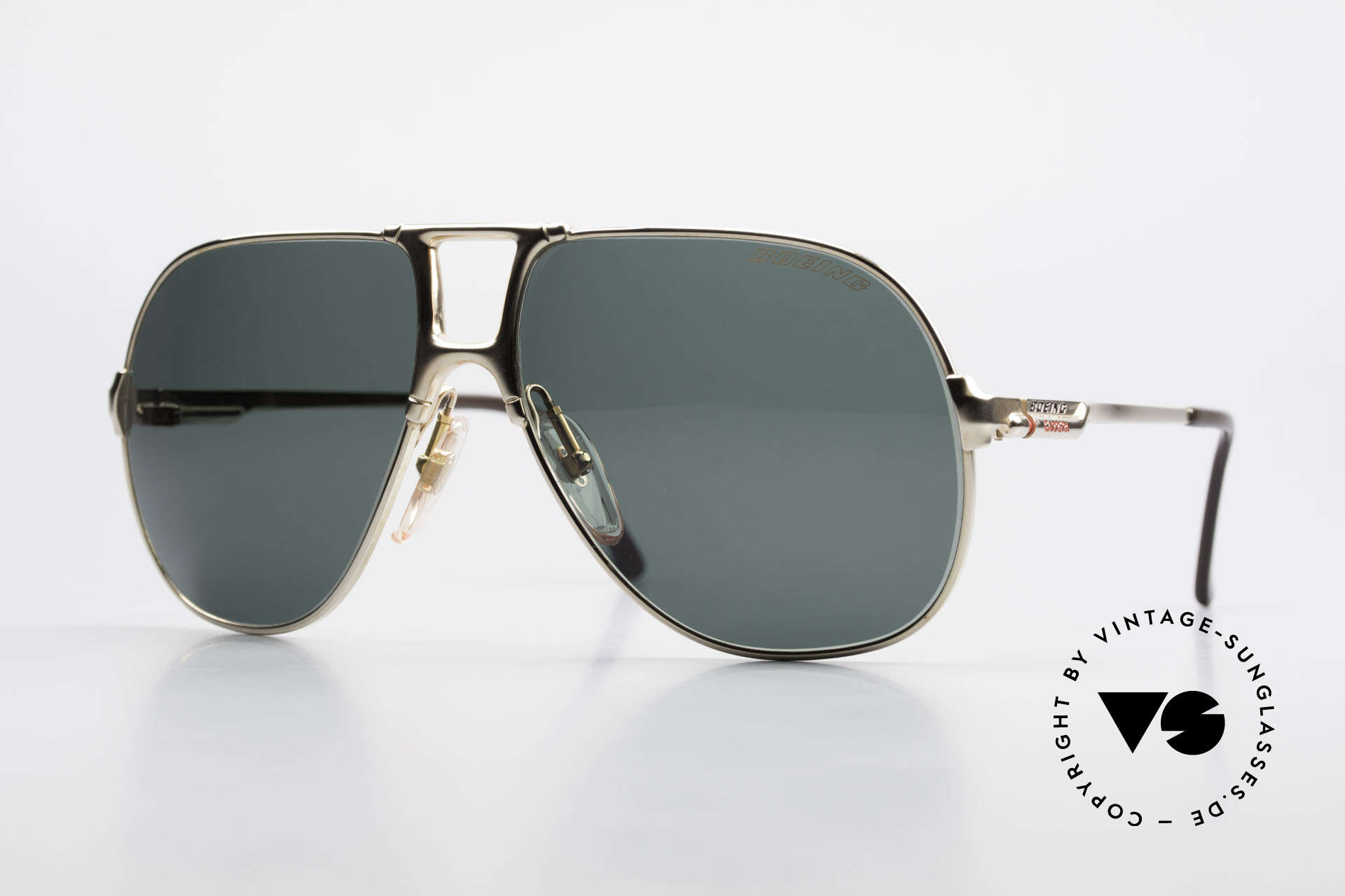 Boeing 5700 Large Old 80's Pilots Shades, The BOEING Collection by Carrera from 1988/1989, Made for Men