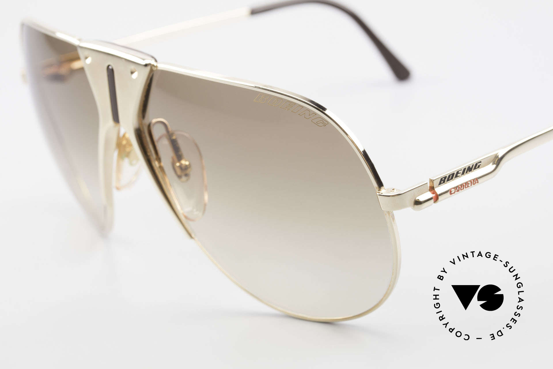 """Boeing 5701 Famous 80's Pilots Sunglasses, """"SMALL"""" 80's size (62/12) = a MEDIUM size, today, Made for Men and Women"""