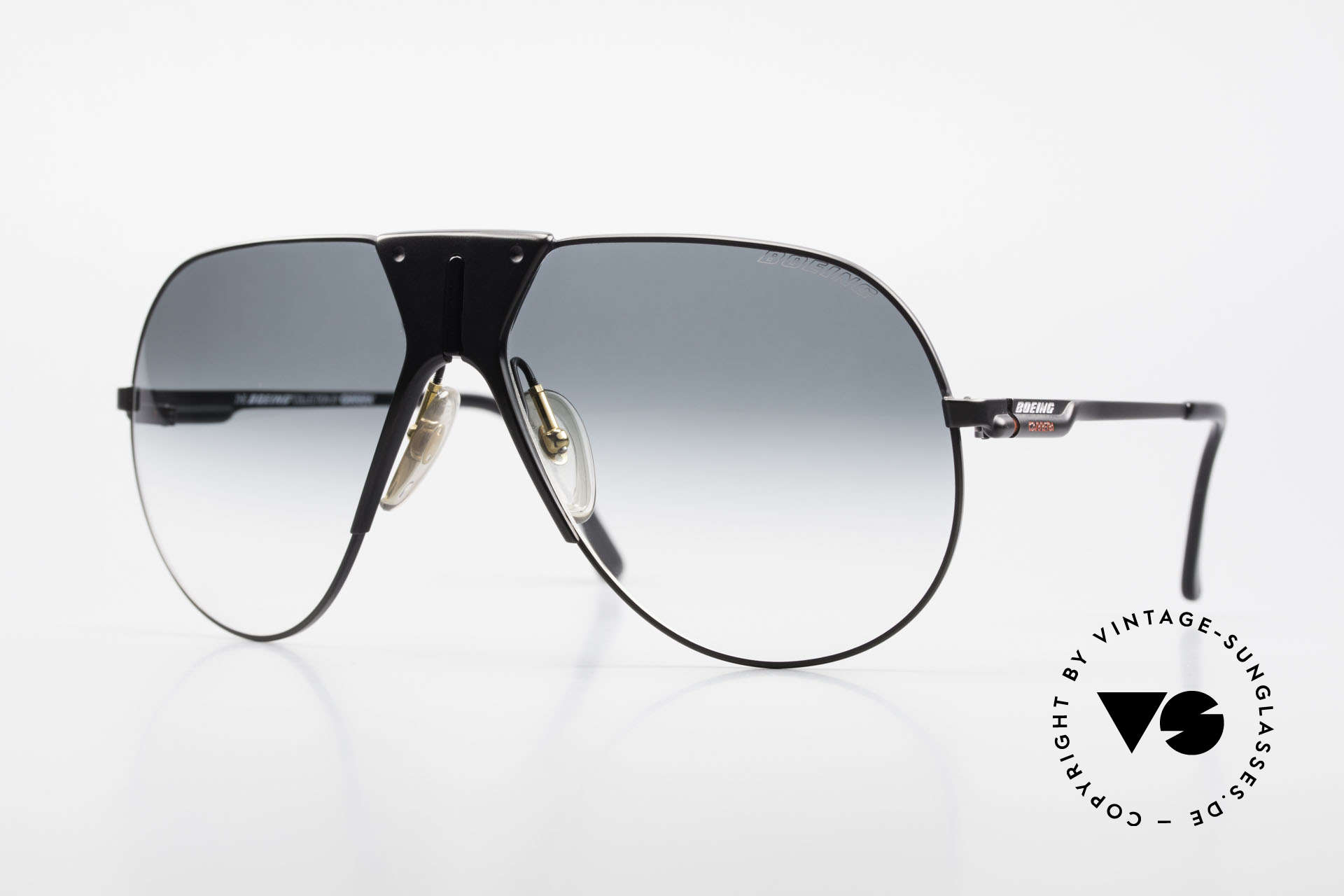 Boeing 5701 Rare XL 80's Pilots Shades, The BOEING Collection by Carrera from 1988/1989, Made for Men