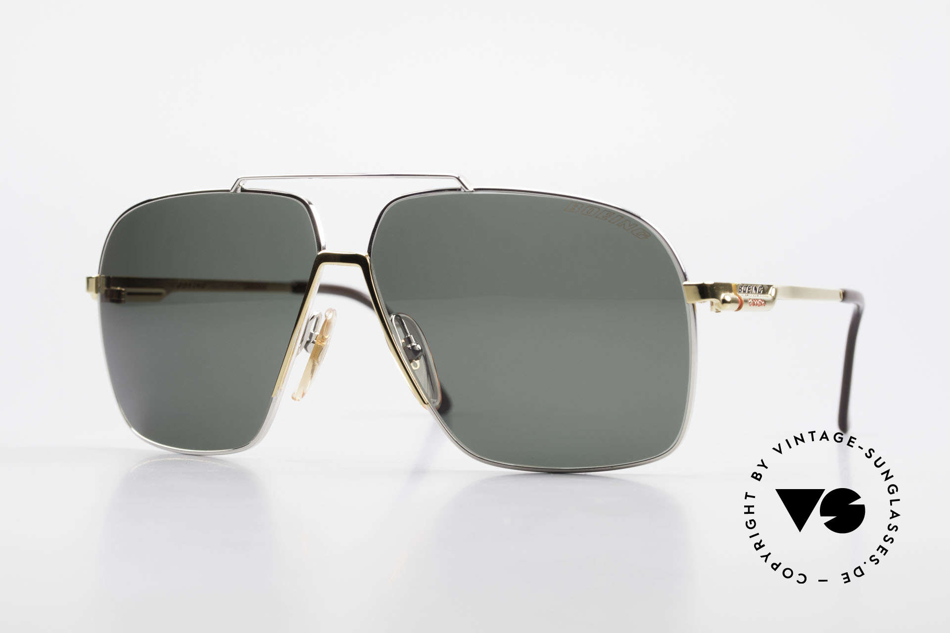 Boeing 5704 Original Old 80's Pilots Shades, The BOEING Collection by Carrera from 1988/1989, Made for Men