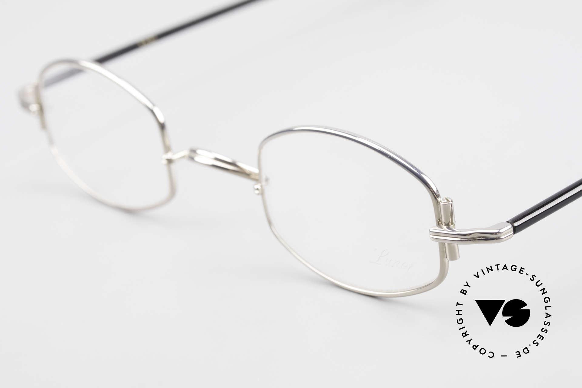 "Lunor XA 03 No Retro Lunor Glasses Vintage, model ""XA 03"" with anatomic bridge and acetate temples, Made for Men and Women"