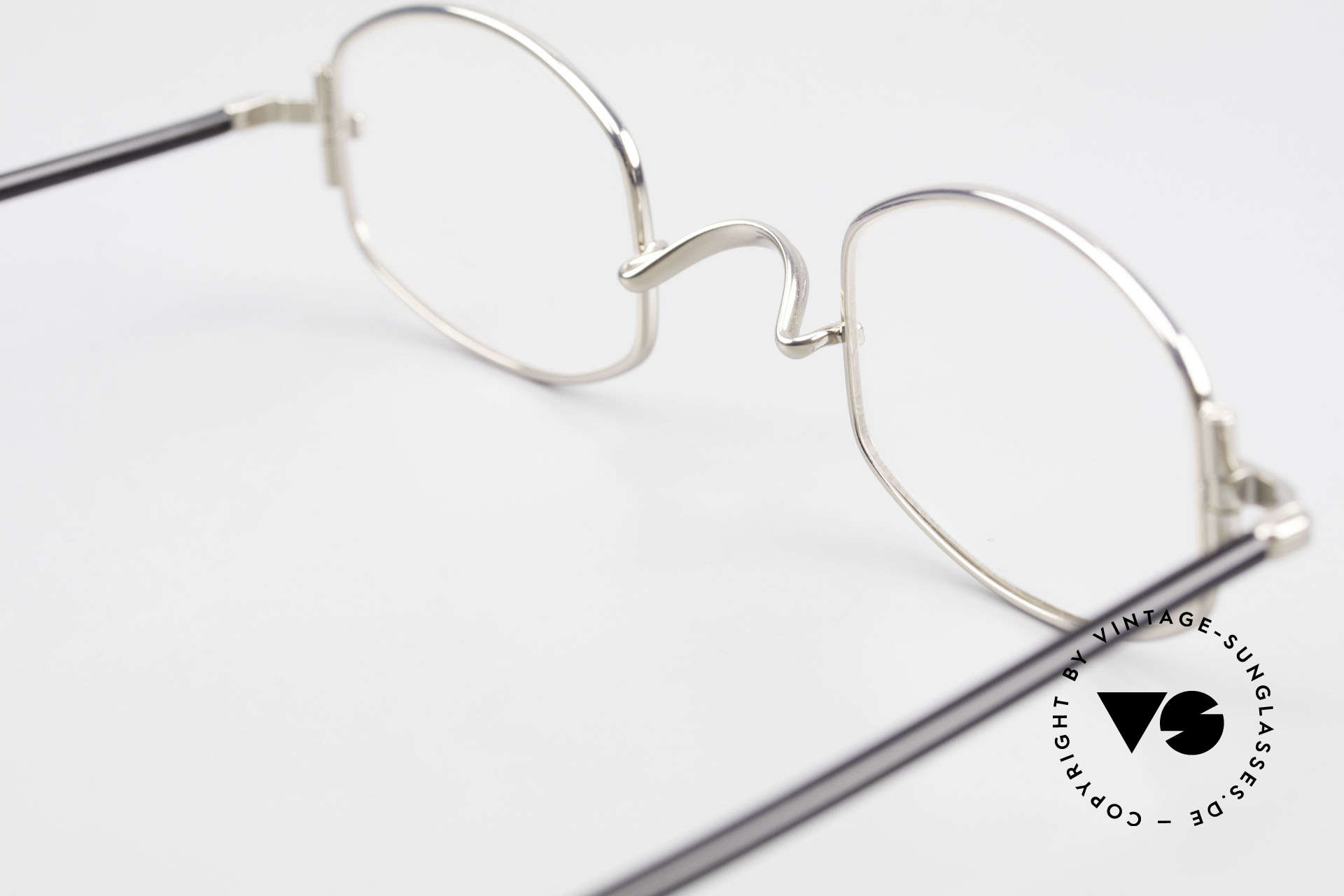 """Lunor XA 03 No Retro Lunor Glasses Vintage, the frame front / frame design looks like a """"LYING TON"""", Made for Men and Women"""