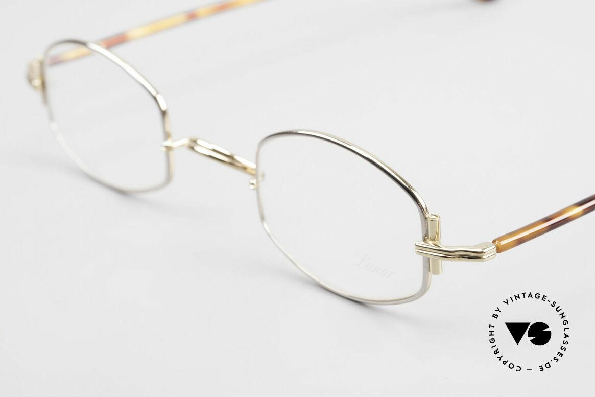 "Lunor XA 03 Lunor Eyeglasses True Vintage, model ""XA 03"" with anatomic bridge and acetate temples, Made for Men and Women"