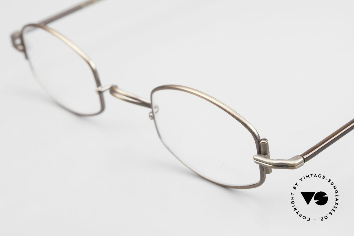 "Lunor XA 03 Old Lunor Eyewear Classic, model ""XA 03"" with anatomic bridge and acetate temples, Made for Men and Women"