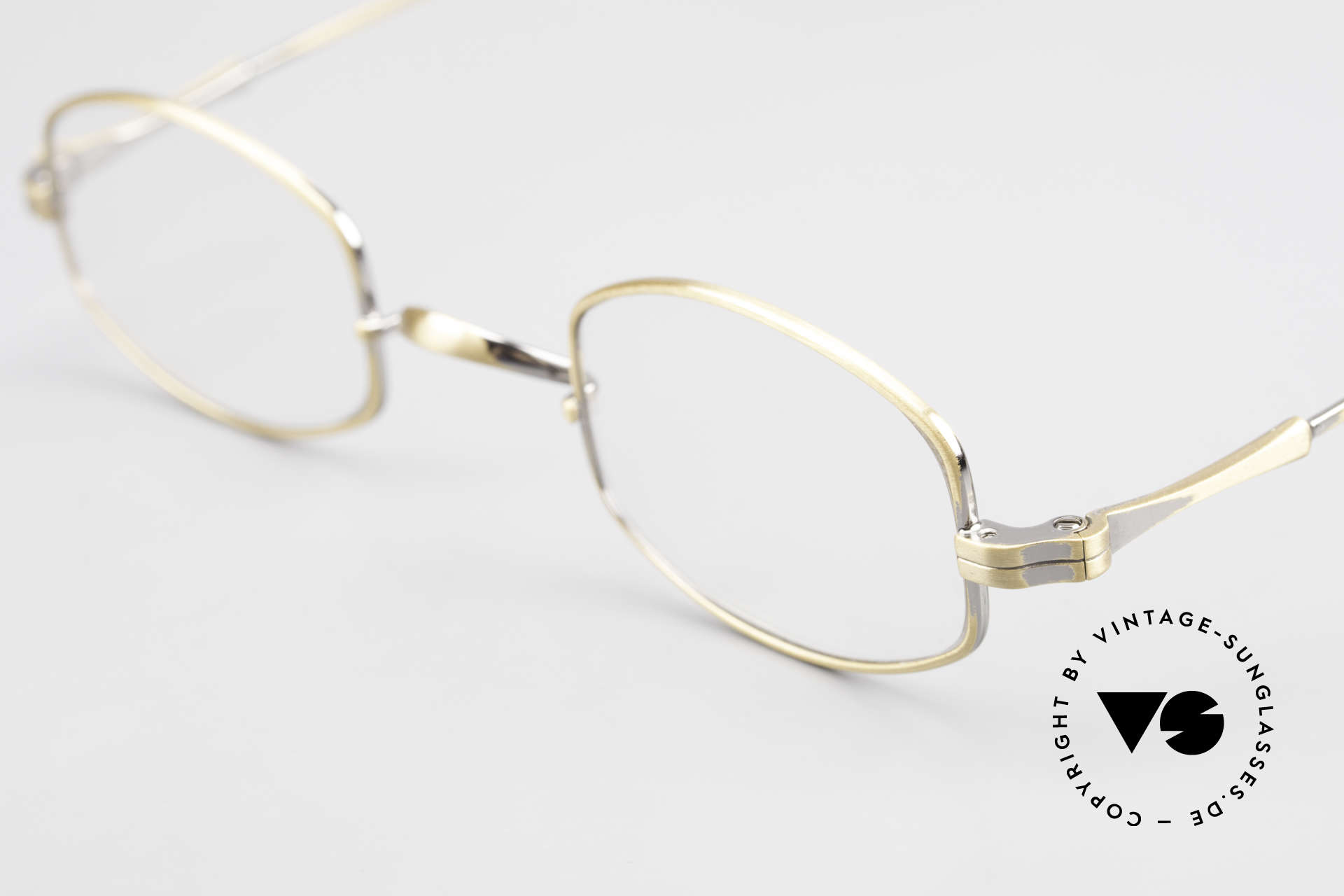 """Lunor II 16 Lunor Eyeglasses Old Classic, very interesting frame finish in """"antique gold"""", UNIQUE, Made for Men and Women"""
