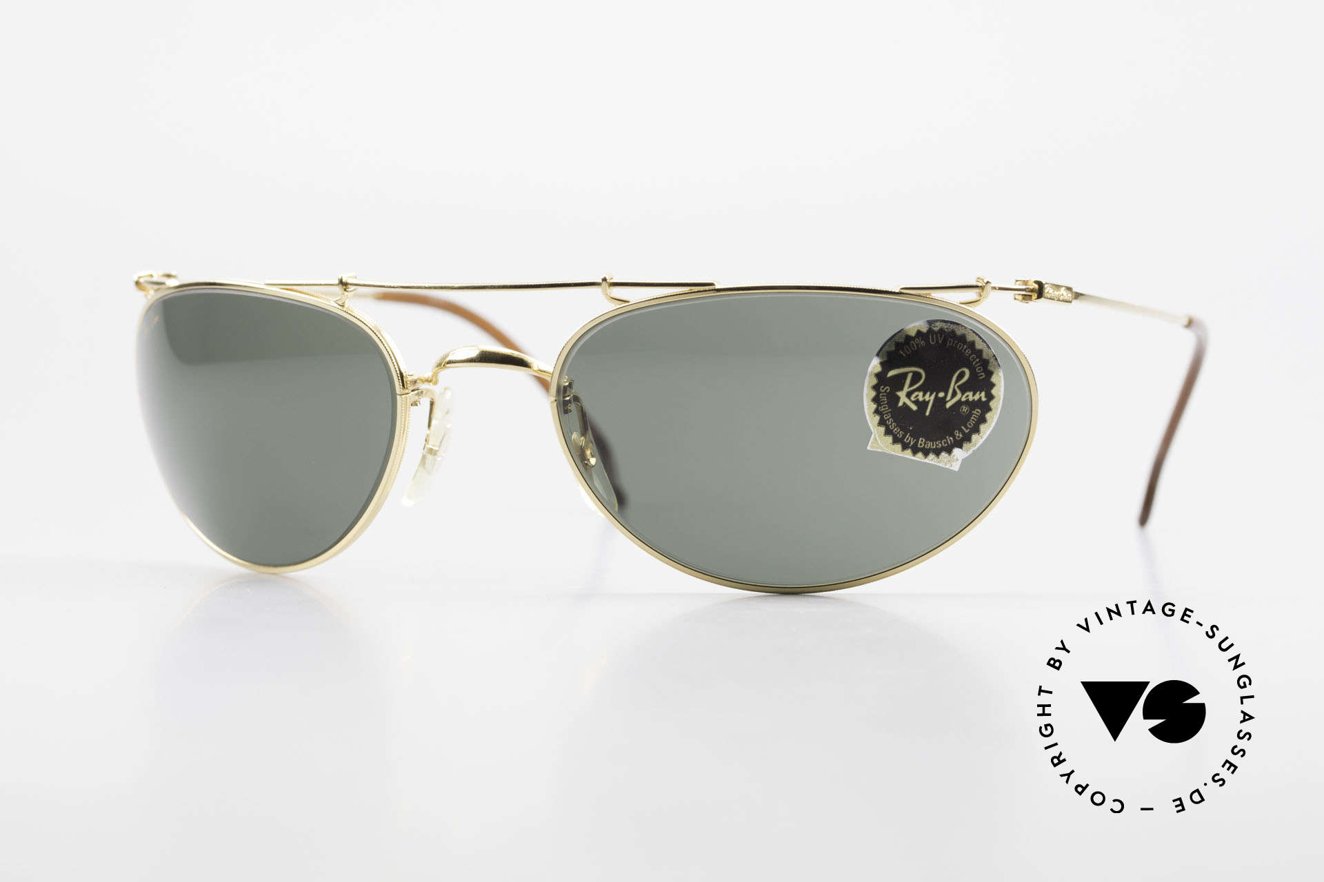 Ray Ban Deco Metals Wrap Old Bausch Lomb Ray-Ban USA, model from the Deco Metals Collection by RAY-BAN, Made for Men and Women