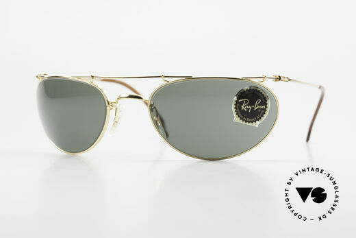 Ray Ban Deco Metals Wrap Old Bausch Lomb Ray-Ban USA Details