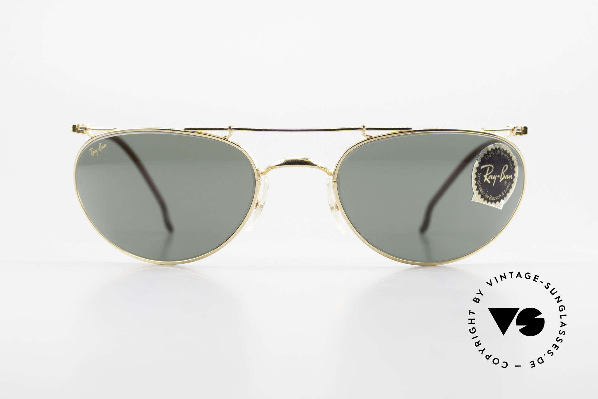 Ray Ban Deco Metals Wrap Old Bausch Lomb Ray-Ban USA, vintage 1990's designer-sunglasses; made in U.S.A., Made for Men and Women