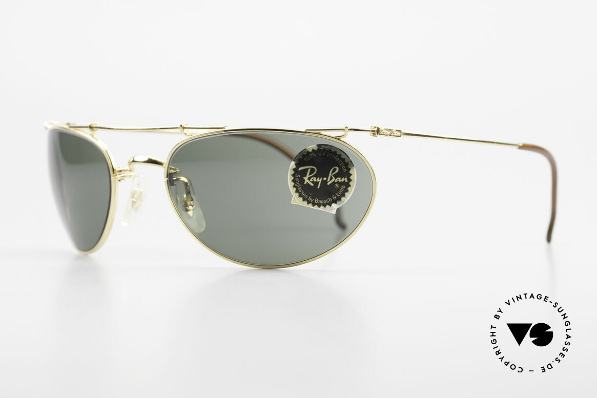 Ray Ban Deco Metals Wrap Old Bausch Lomb Ray-Ban USA, perfect fit & very pleasant to wear (1. class quality), Made for Men and Women