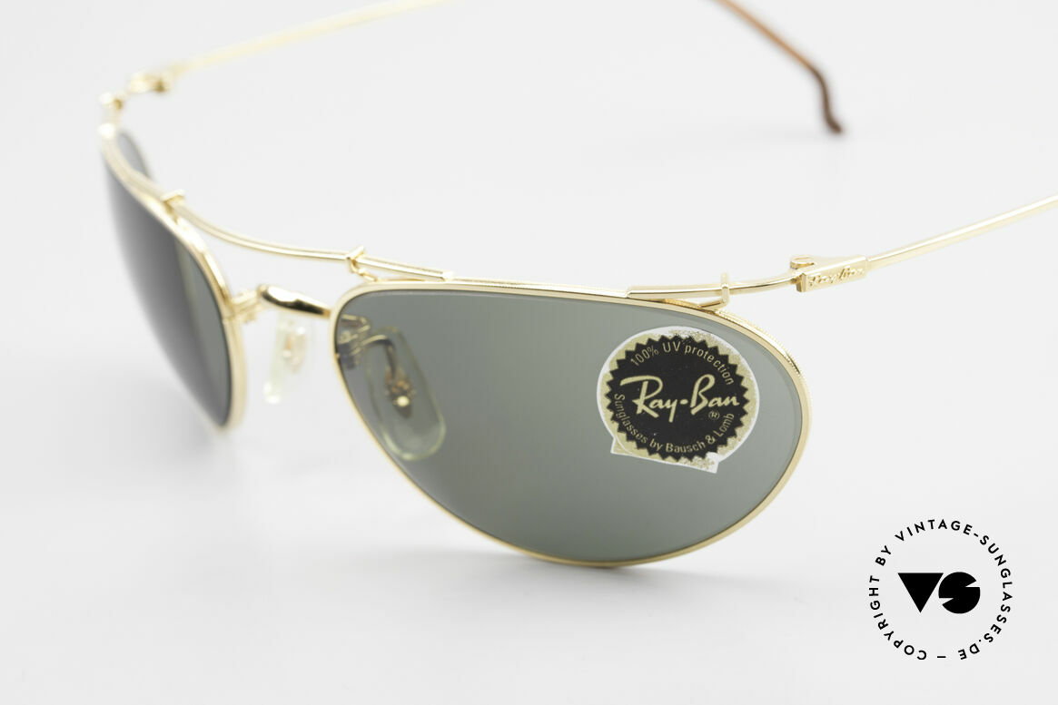 Ray Ban Deco Metals Wrap Old Bausch Lomb Ray-Ban USA, legendary B&L mineral lenses (100% UV protection), Made for Men and Women