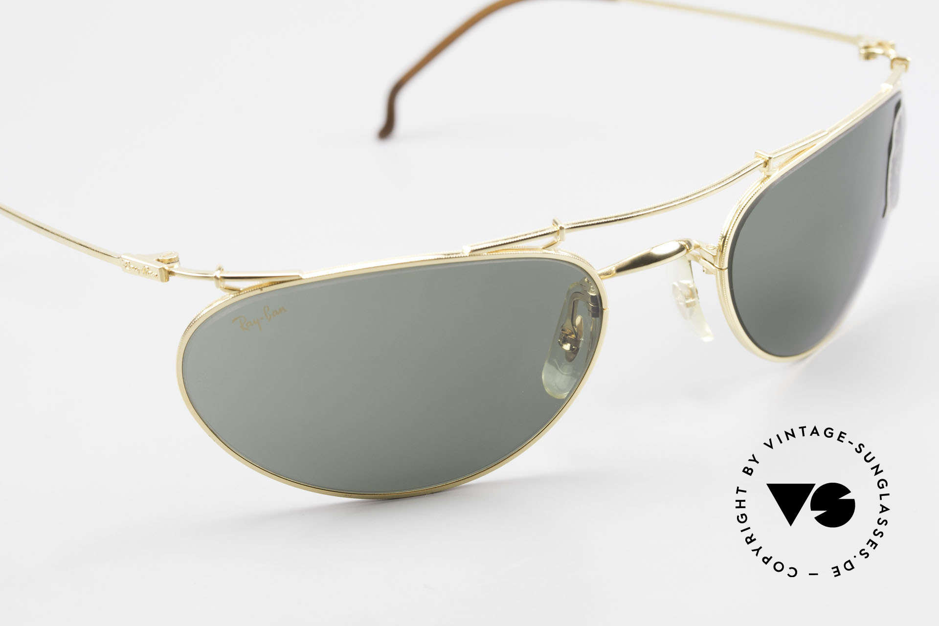 Ray Ban Deco Metals Wrap Old Bausch Lomb Ray-Ban USA, unworn (like all our vintage sunglasses by Ray Ban), Made for Men and Women