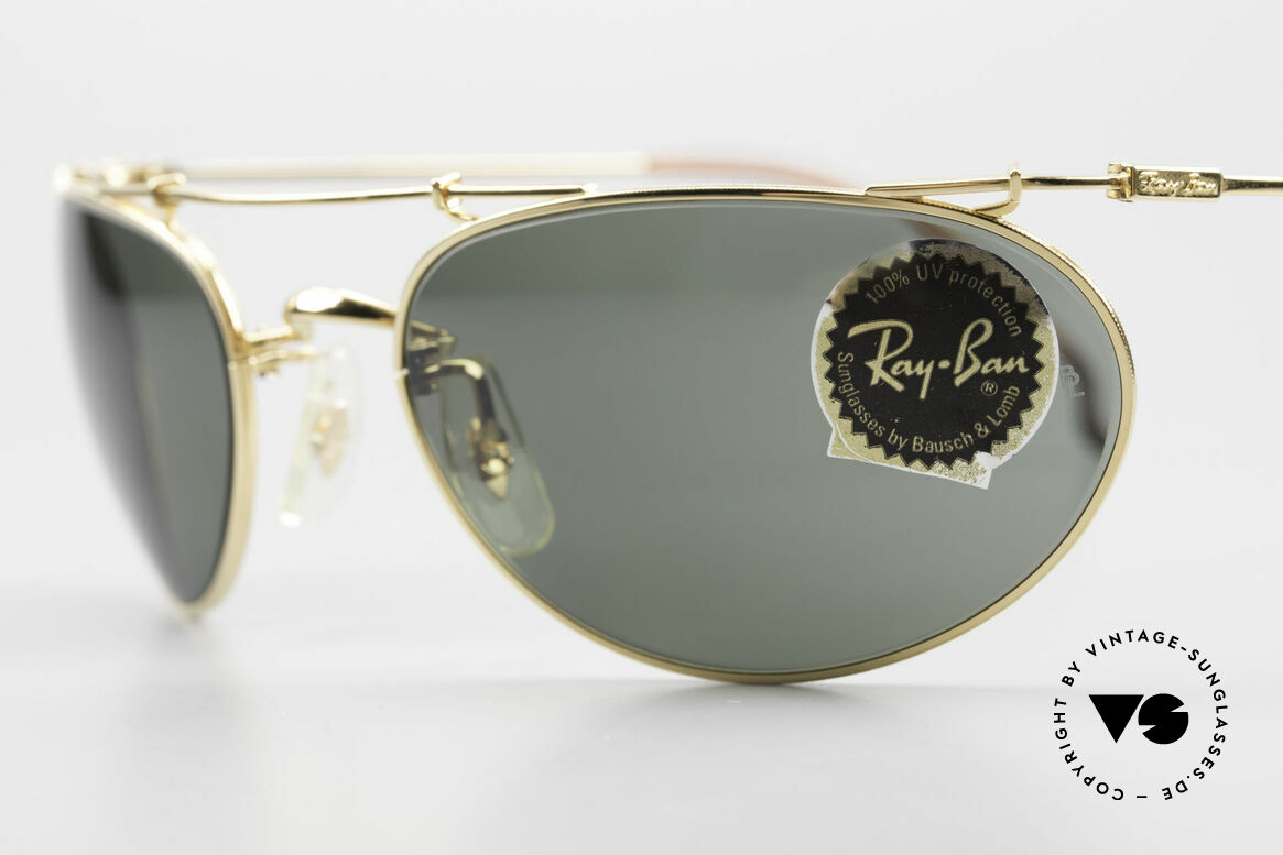 Ray Ban Deco Metals Wrap Old Bausch Lomb Ray-Ban USA, original name: Deco Metals Wrap, W1759, G-15, gold, Made for Men and Women