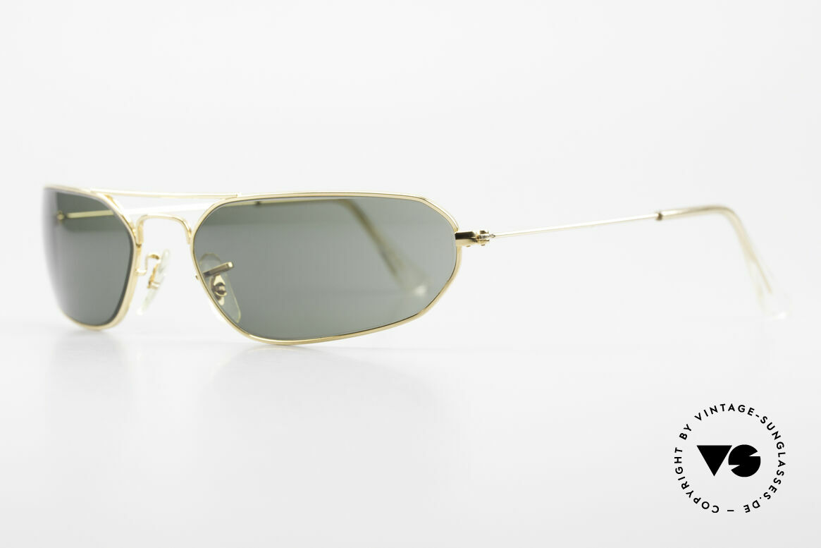 Ray Ban Fugitives Hexagon 90's Ray-Ban Bausch Lomb B&L, gold frame with classic G15 green B&L sun lenses, Made for Men