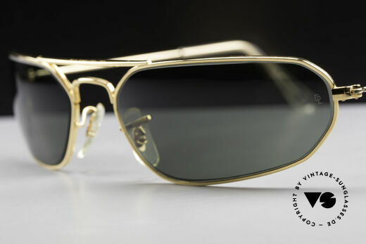 Ray Ban Fugitives Hexagon 90's Ray-Ban Bausch Lomb B&L, perfect fit due to curved frame & lens size 61mm, Made for Men