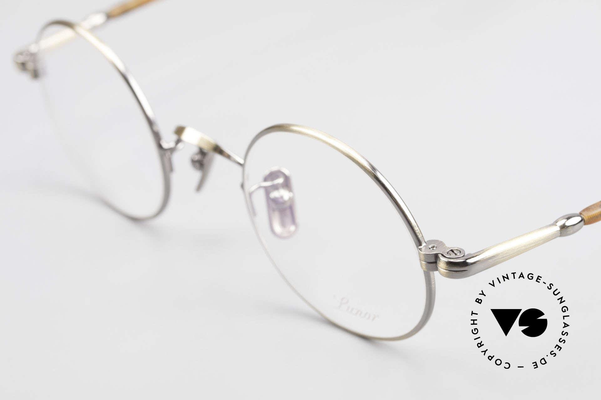 Lunor VA 110 Round Lunor Glasses Original, model VA 110 = acetate-metal temples & titanium pads, Made for Men and Women