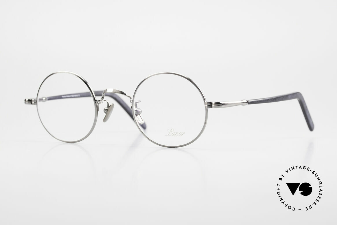 Lunor VA 110 Original Lunor Glasses Round, old Lunor eyeglasses from the 2012's eyewear collection, Made for Men and Women
