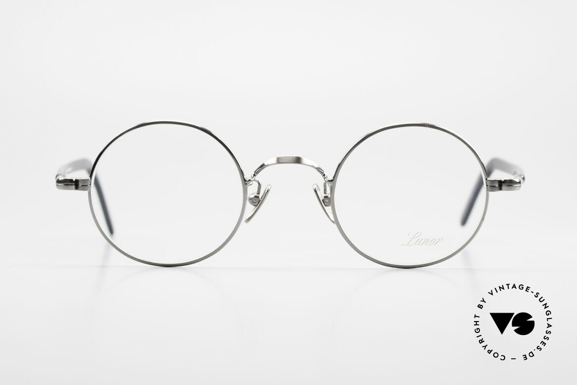 Lunor VA 110 Original Lunor Glasses Round, LUNOR: honest craftsmanship with attention to details, Made for Men and Women