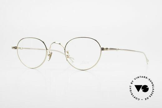 Lunor V 107 Panto Eyeglasses Gold Plated Details