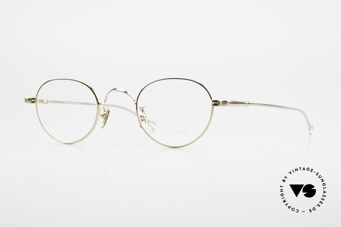 Lunor V 107 Panto Eyeglasses Gold Plated, LUNOR: honest craftsmanship with attention to details, Made for Men