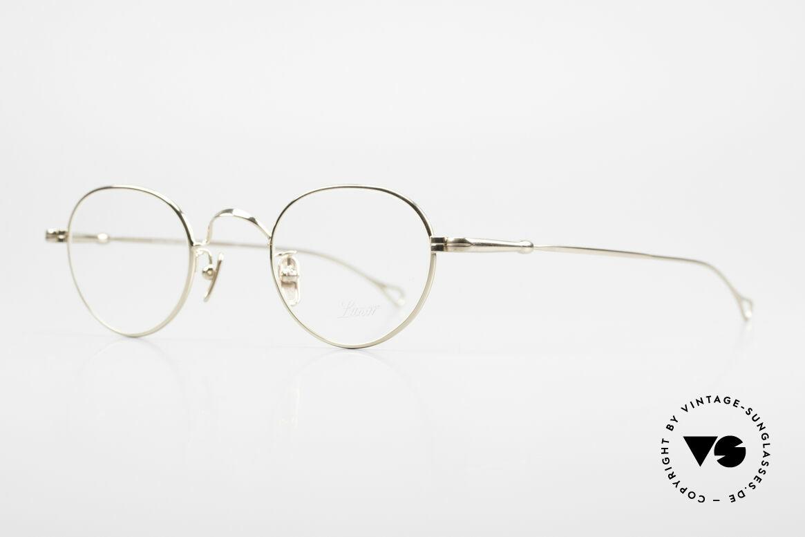 Lunor V 107 Panto Eyeglasses Gold Plated, model V 107: very elegant Panto glasses for gentlemen, Made for Men