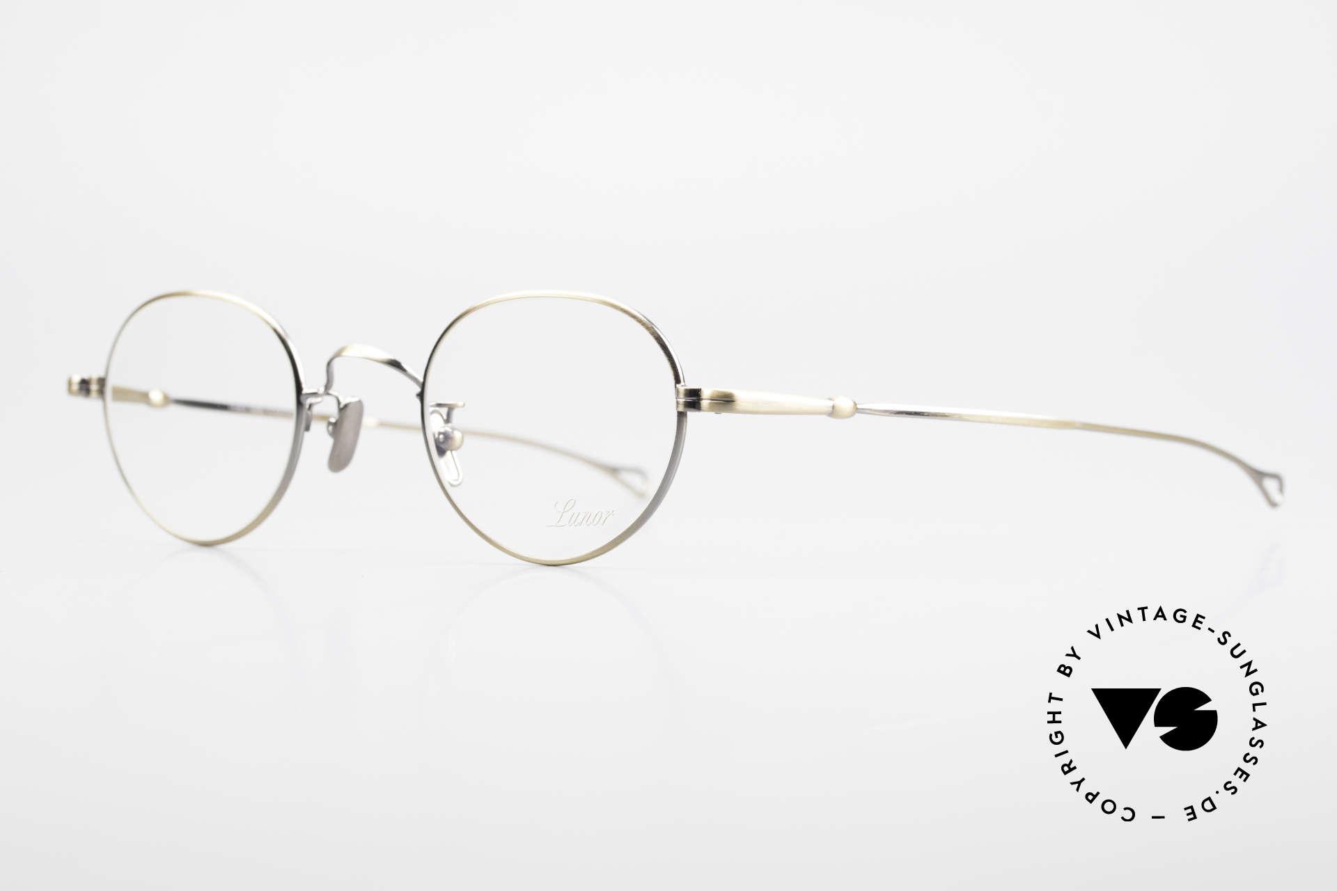 Lunor V 108 Metal Frame With Titanium Pads, model V 108: very elegant Panto glasses for gentlemen, Made for Men