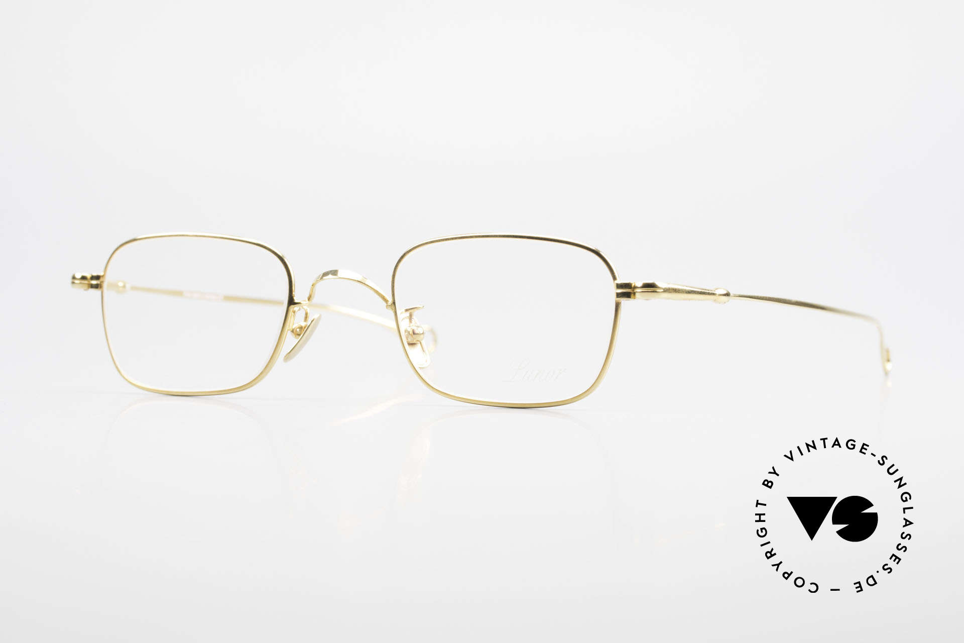 Lunor V 109 Lunor Men's Frame Gold Plated, gold-plated Lunor metal glasses in XL size 49/23, 140, Made for Men