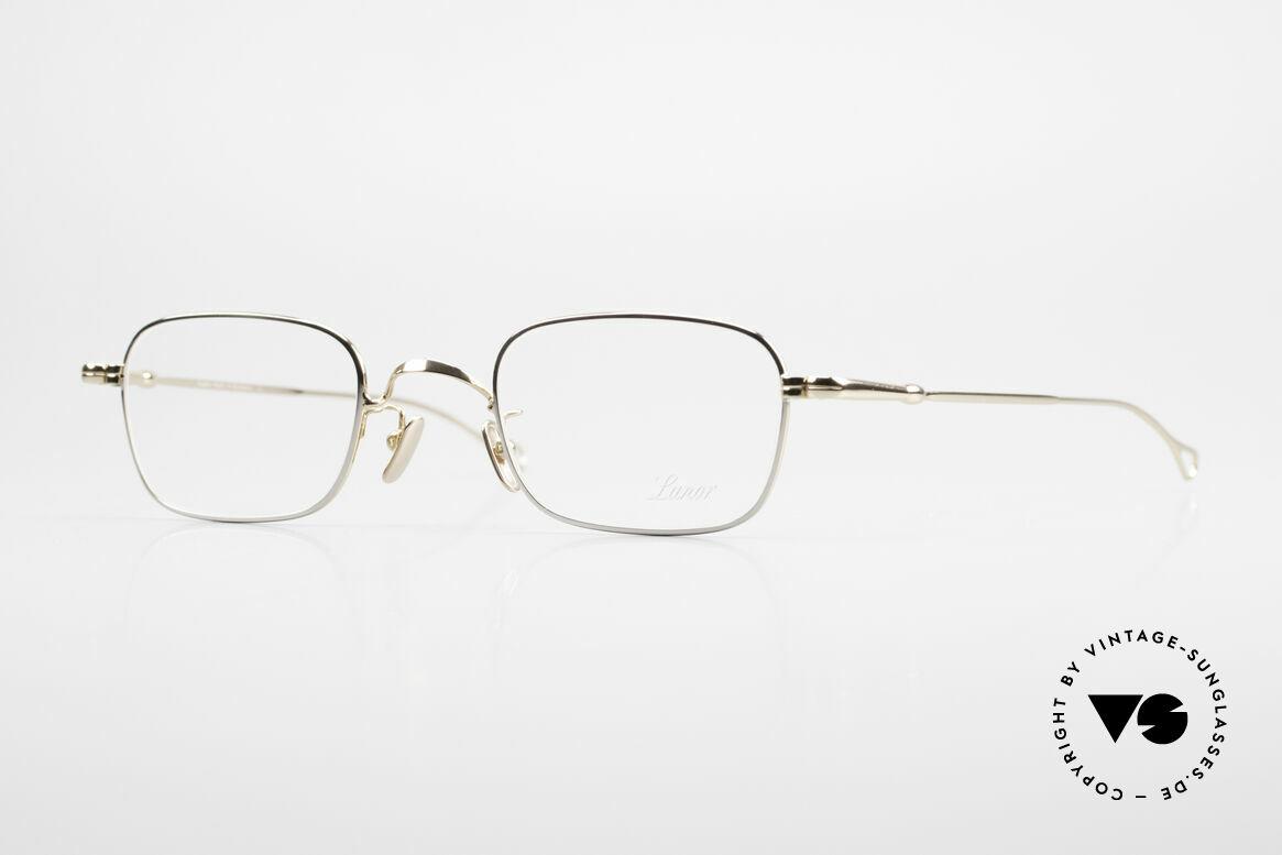 Lunor V 109 Old Lunor Men's Frame Metal, BICOLOR Lunor metal eyeglasses in XL size 49/23, 140, Made for Men