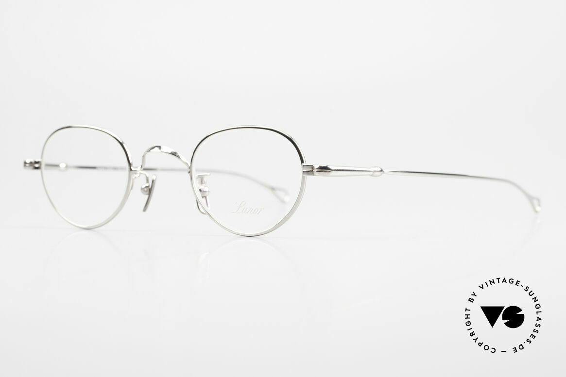 Lunor V 103 Timeless Lunor Eyeglass-Frame, model V103: very elegant metal glasses; size 40/23, 140, Made for Men and Women