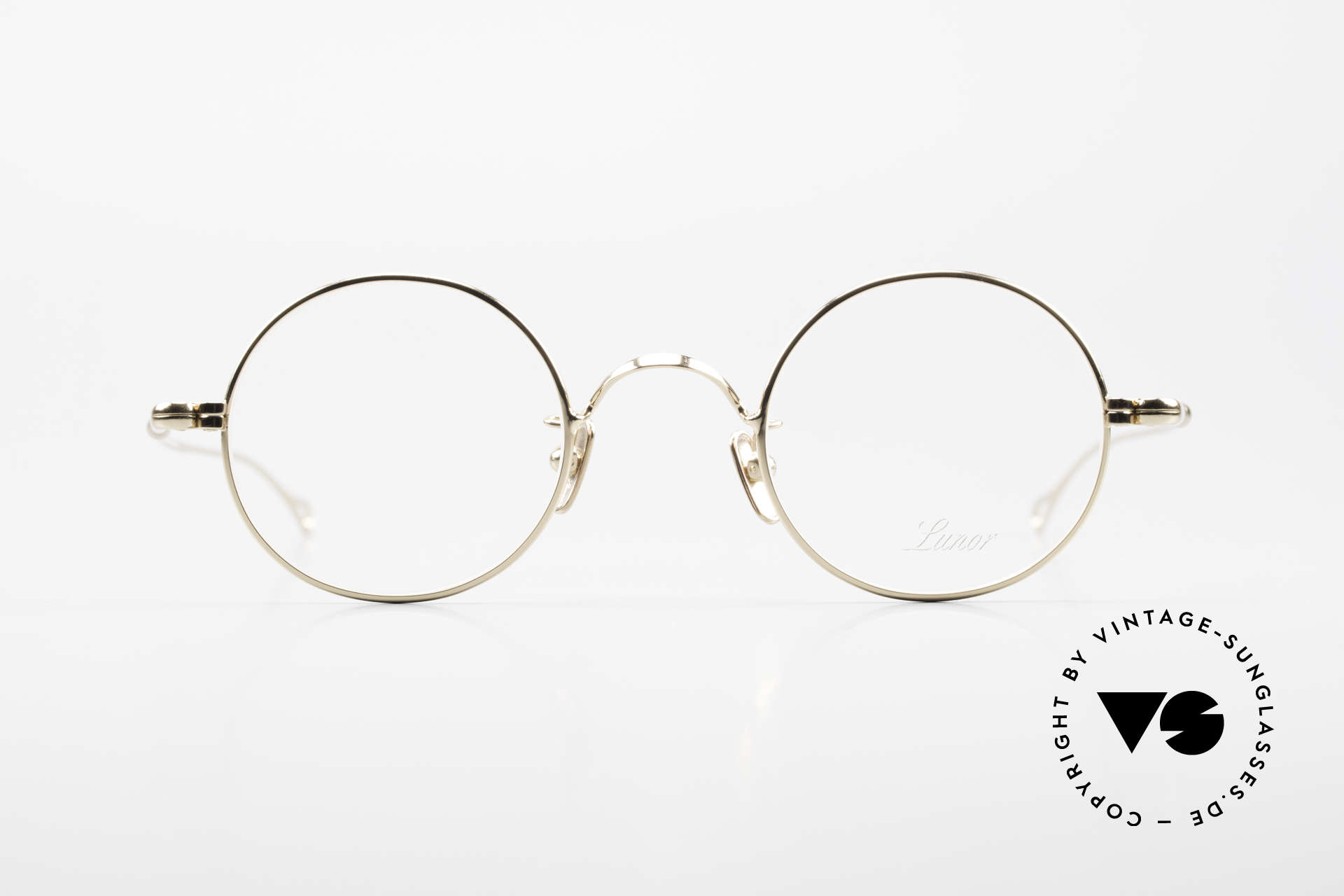 Lunor V 110 Lunor Round Glasses GP Gold, LUNOR: honest craftsmanship with attention to details, Made for Men and Women