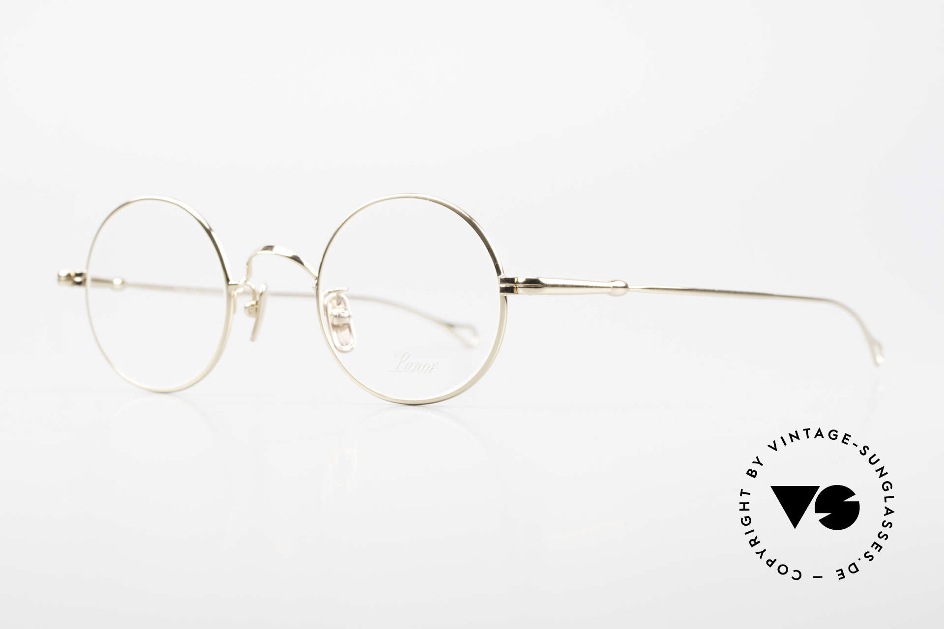 Lunor V 110 Lunor Round Glasses GP Gold, without ostentatious logos (but in a timeless elegance), Made for Men and Women