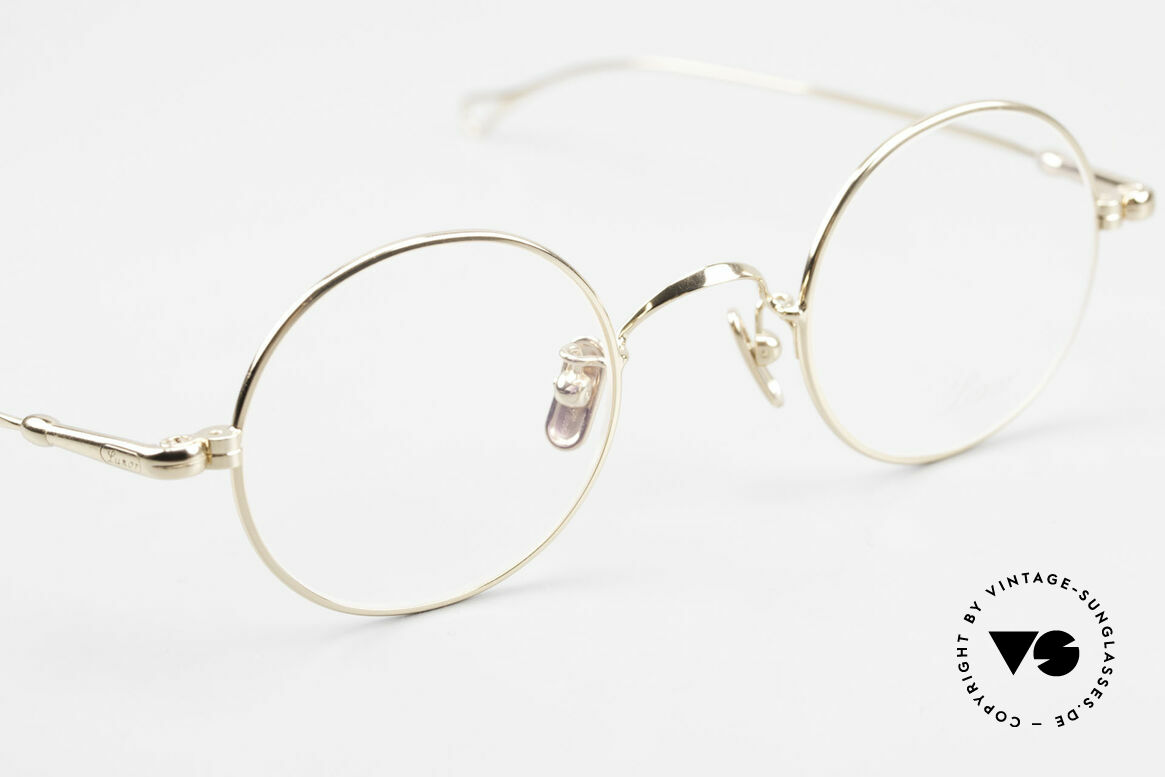 Lunor V 110 Lunor Round Glasses GP Gold, from the 2011's collection, but in a well-known quality, Made for Men and Women
