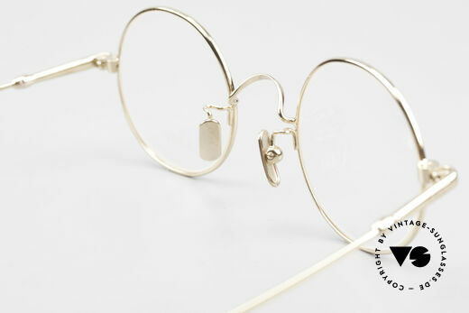 Lunor V 110 Lunor Round Glasses GP Gold, Size: medium, Made for Men and Women