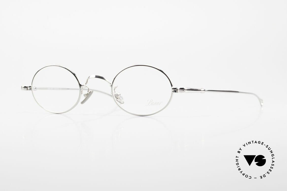 Lunor V 100 Oval Vintage Lunor Glasses, LUNOR: honest craftsmanship with attention to details, Made for Men and Women