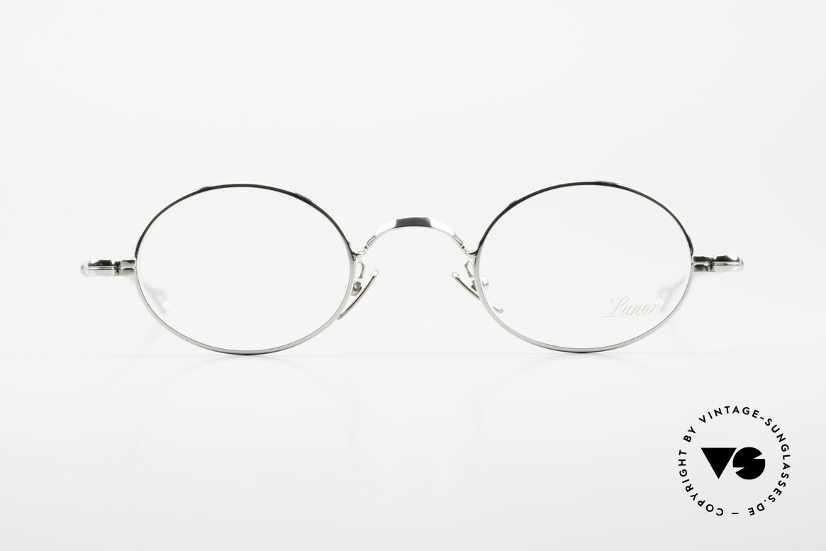 Lunor V 100 Oval Vintage Lunor Glasses, without ostentatious logos (but in a timeless elegance), Made for Men and Women