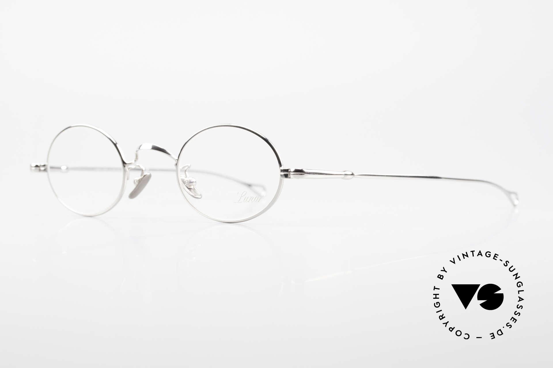 Lunor V 100 Oval Vintage Lunor Glasses, model V100: timeless oval eyeglass-frame (unisex specs), Made for Men and Women