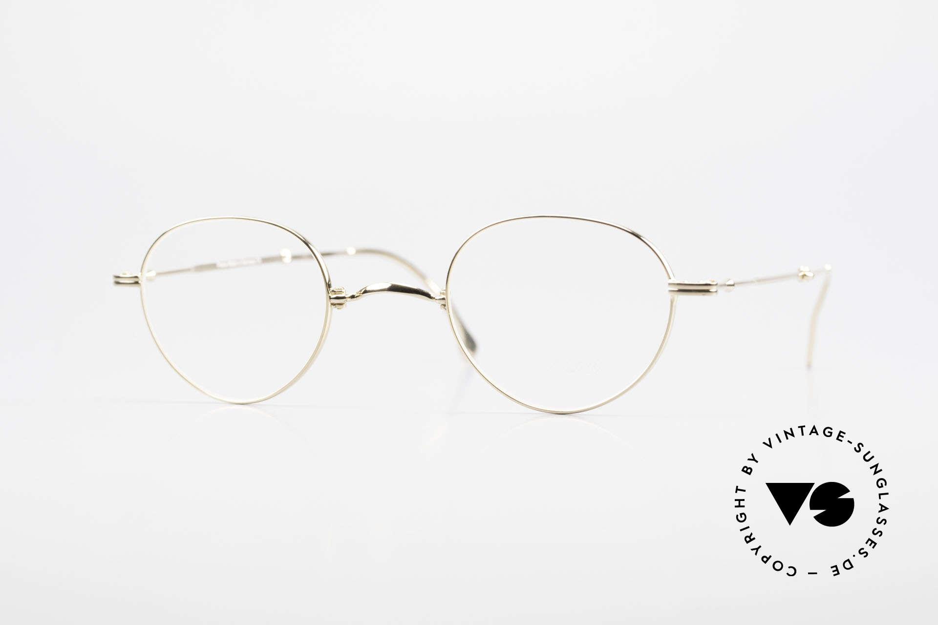 Lunor XXV Folding 03 Lunor Foldable Panto Glasses, old Lunor folding eyeglasses, model XXV 03, size 40/22, Made for Men and Women