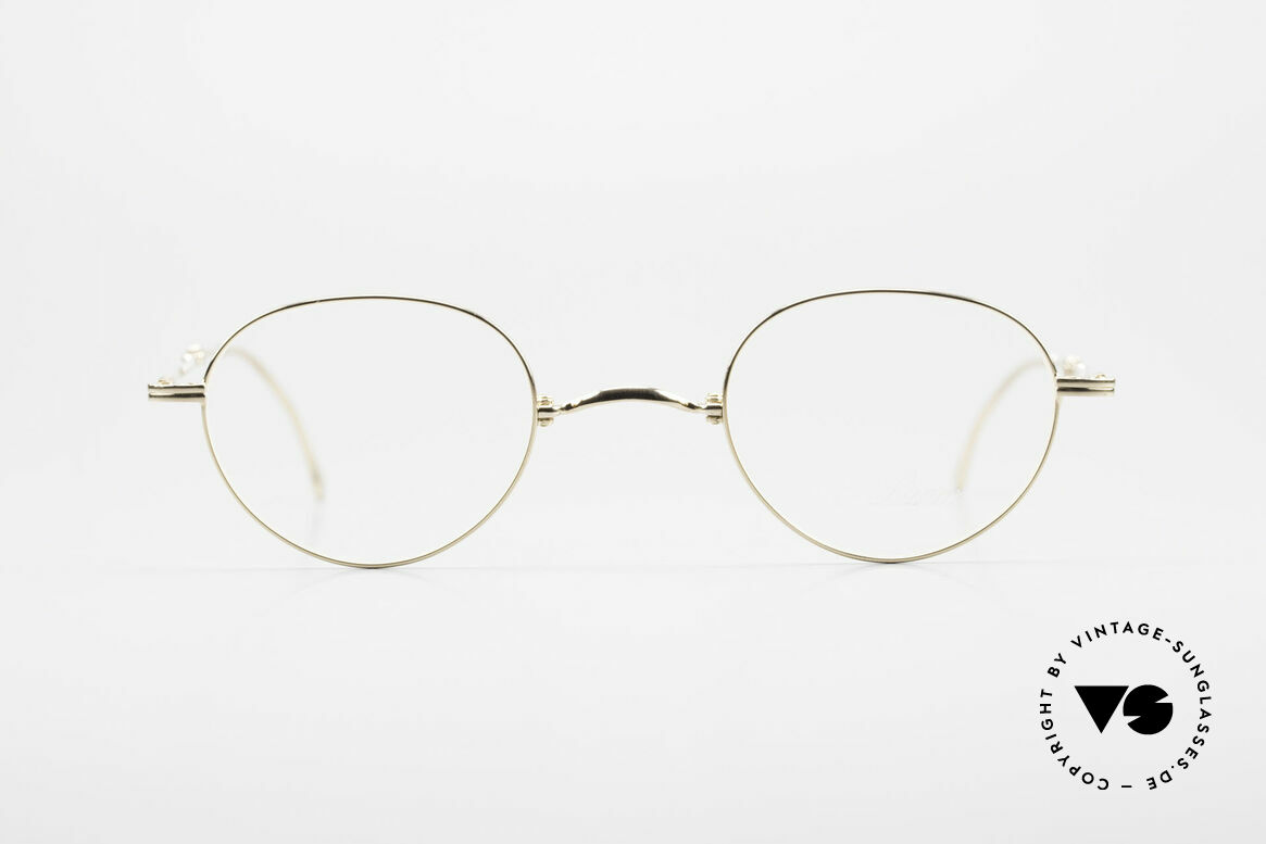 """Lunor XXV Folding 03 Lunor Foldable Panto Glasses, Lunor: shortcut for French """"Lunette d'Or"""" (gold glasses), Made for Men and Women"""