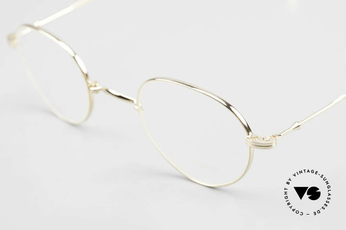 Lunor XXV Folding 03 Lunor Foldable Panto Glasses, it's the Panto folding model of the XXV-series, gold-plated, Made for Men and Women