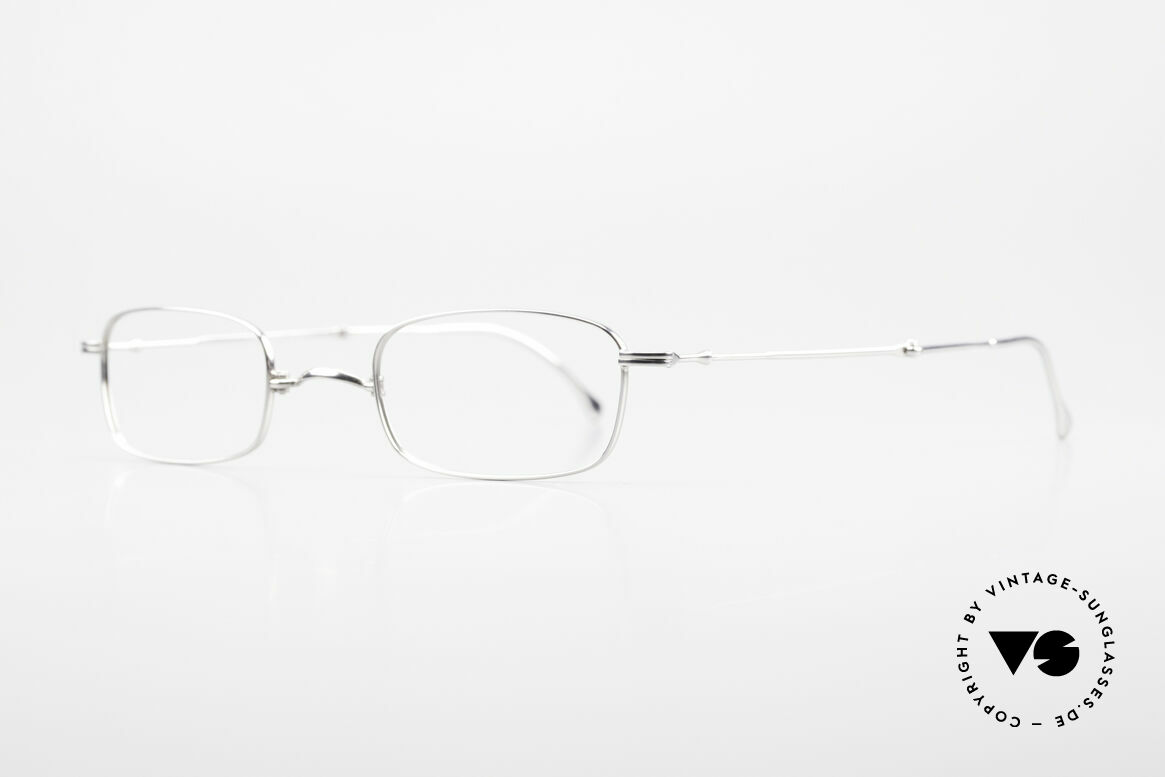 """Lunor XXV Folding 01 Foldable Lunor Frame Unisex, well-known for the """"W-bridge"""" & the plain frame designs, Made for Men and Women"""
