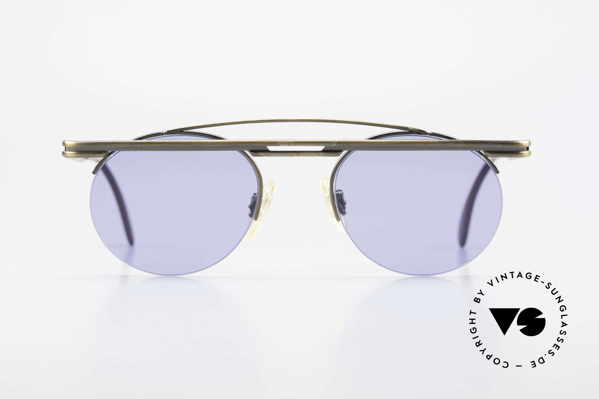 Cazal 748 True Vintage 90's Sunglasses, great geometrical play (round & square, at the same time), Made for Men and Women