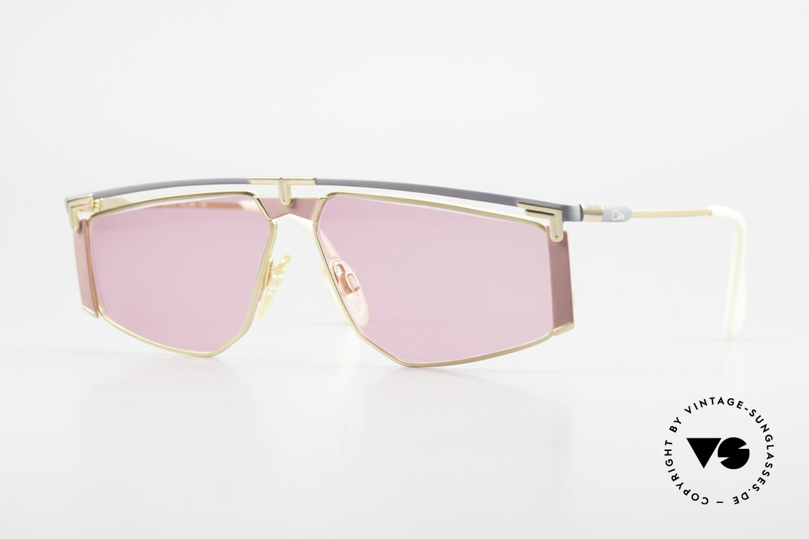 Cazal 235 Pink Titanium Vintage Frame, vintage Cazal 'German Titanium' frame from app. 1990, Made for Men and Women
