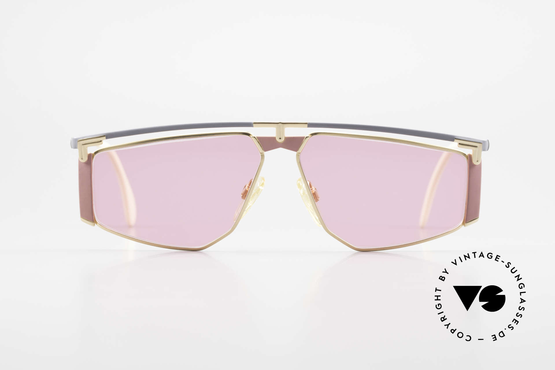 Cazal 235 Pink Titanium Vintage Frame, 1. class wearing comfort thanks to lightweight material, Made for Men and Women