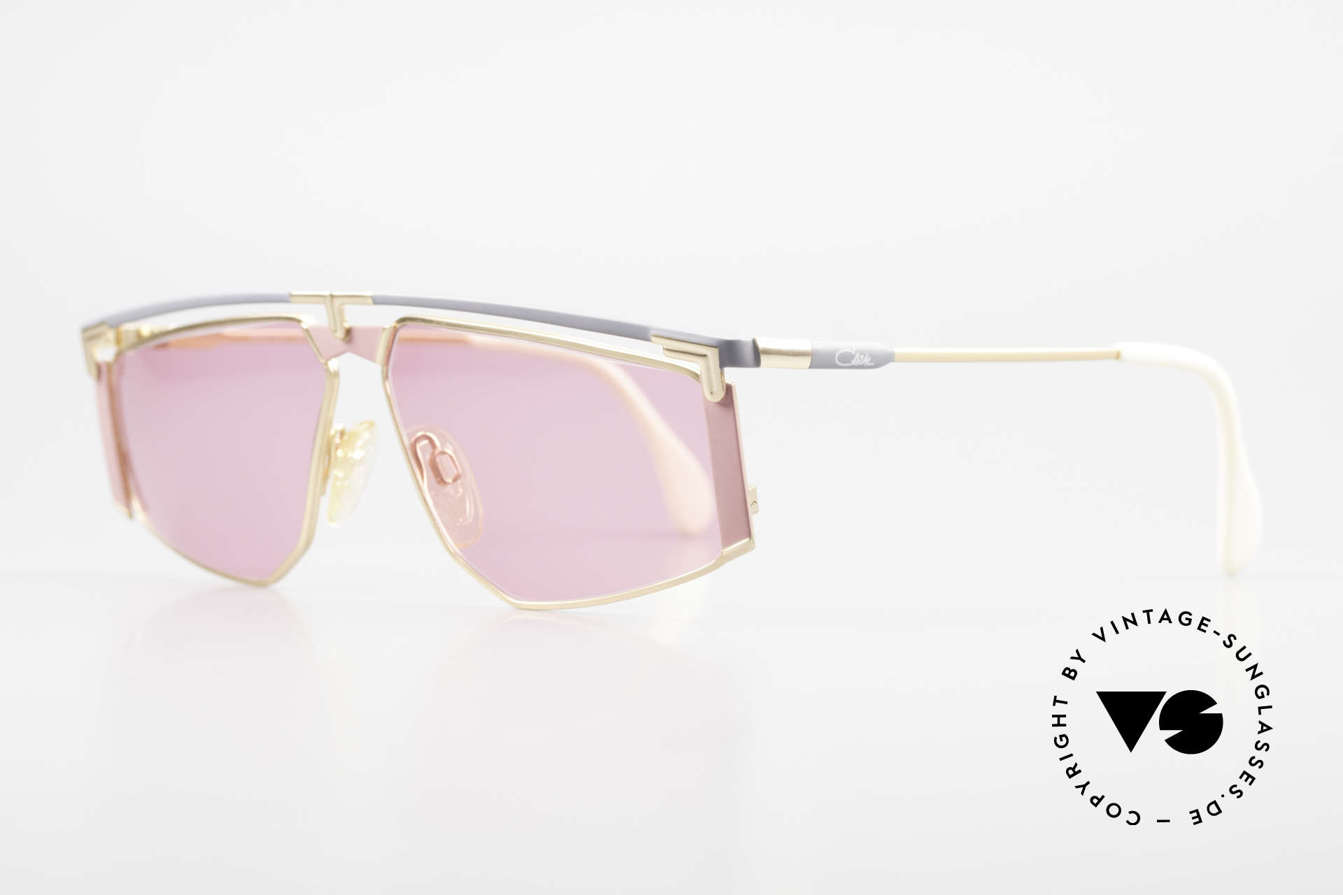 Cazal 235 Pink Titanium Vintage Frame, striking frame design (distinctive CAri ZALloni, CAZAL), Made for Men and Women